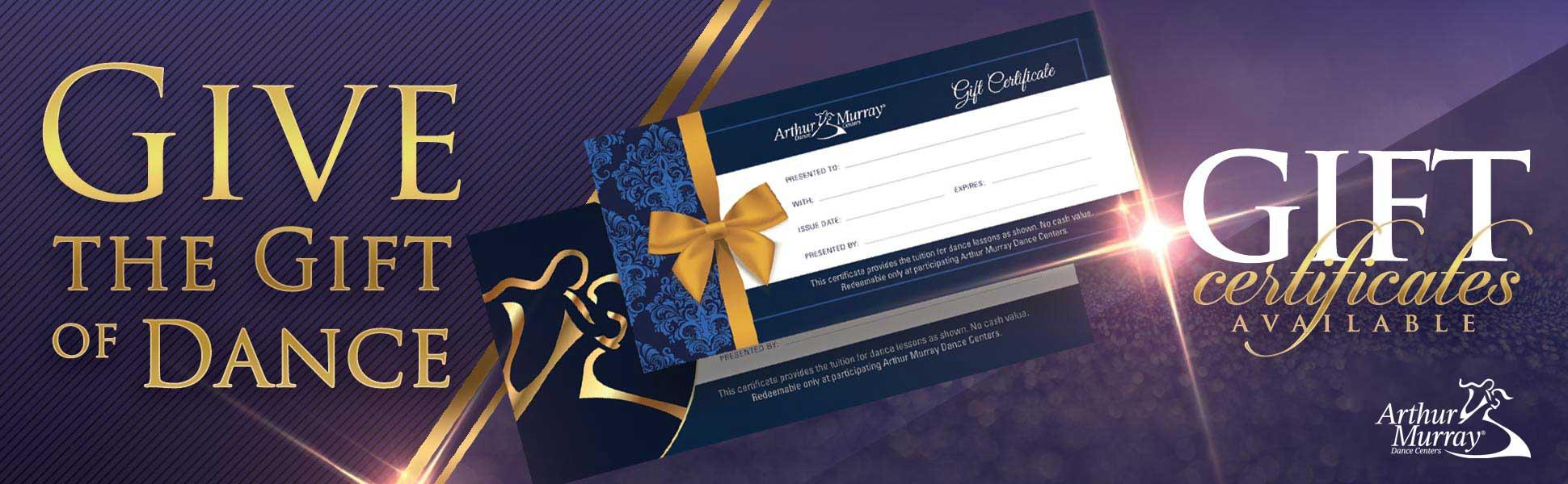 Arthur Murray Dallas Gift Certificates